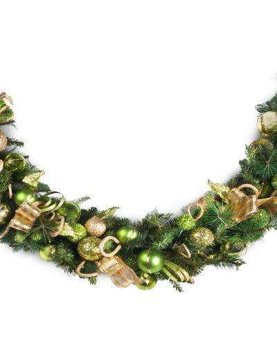 Candy Green Jeweled Holiday Wreath by Treetopia