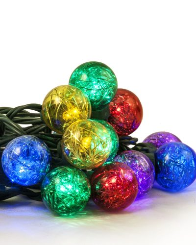 Color My World Tinsel LED Globe Lights by Treetopia