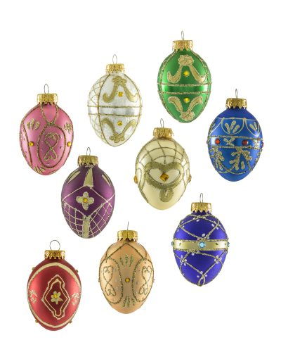 Artisan's Glass Egg Ornament Set by Treetopia