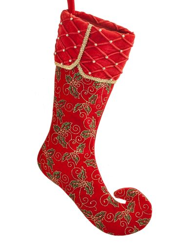 Santa's Little Helper Holly Red Stocking – Clearance by Treetopia
