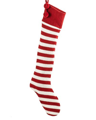 Cozy Striped Christmas Stocking by Treetopia