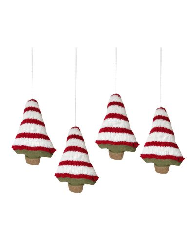 Gingerbread Knitted Christmas Tree Ornaments by Treetopia