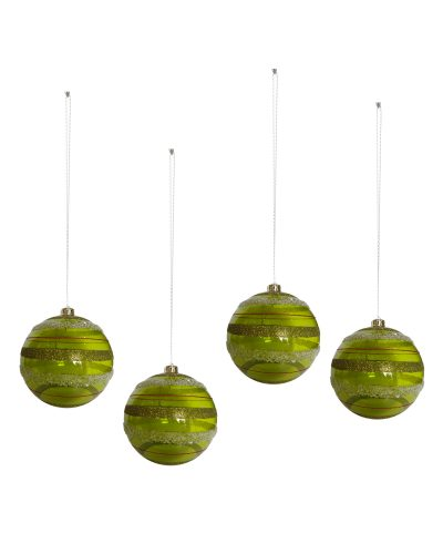Lime Drop Christmas Ball Ornaments by Treetopia