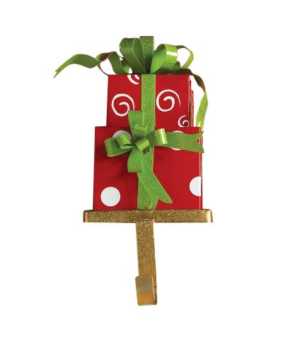 Swirls 'n' Dots Red Christmas Presents Stocking Holder by Treetopia