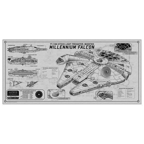 Star Wars Millennium Falcon TechPlate Aluminum Spec Plate