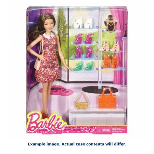 Barbie Doll and Shoe Case