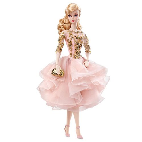 Barbie Blush and Gold Dress Doll