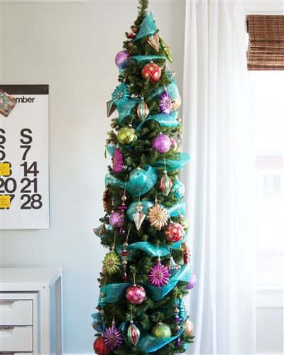 7.5′ Prelit No. 2 Pencil Artificial Christmas Tree with Clear Lights by Treetopia