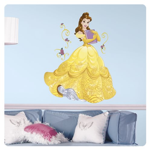 Beauty and the Beast Belle Sparkling Giant Wall Decals