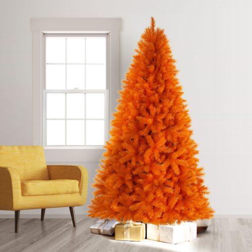 7.5′ Unlit The 100% Orange Artificial Christmas Tree by Treetopia