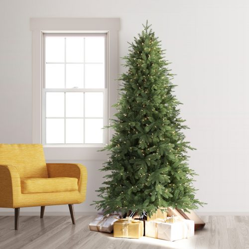 12′ Prelit Addison Spruce Artificial Christmas Tree with Clear Lights by Treetopia