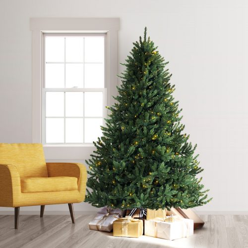 9′ Prelit Alexander Fir Artificial Christmas Tree with Clear Multi LED Lights by Treetopia