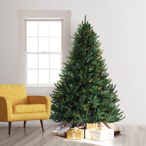 7.5′ Prelit Alexander Fir Artificial Christmas Tree with Multi Lights by Treetopia