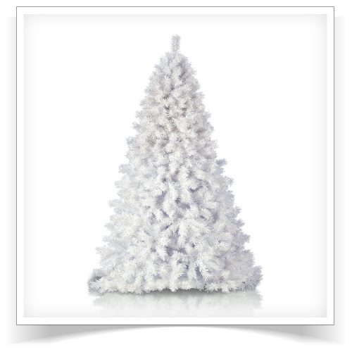 7′ Prelit Arctic White Artificial Christmas Tree with Clear Blue LED Lights by Treetopia