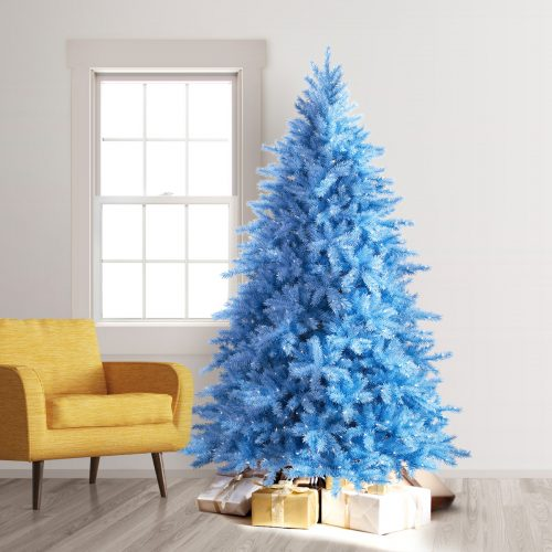 7.5′ Prelit Baby Blue Artificial Christmas Tree with Clear Lights by Treetopia