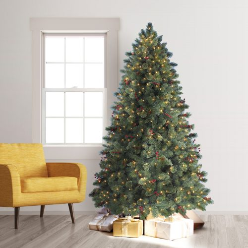7′ Prelit Biltmore Pine Artificial Christmas Tree with Clear Lights by Treetopia