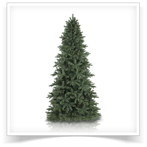 7.5′ Prelit Boulder Blue Spruce Artificial Christmas Tree with Clear Lights by Treetopia