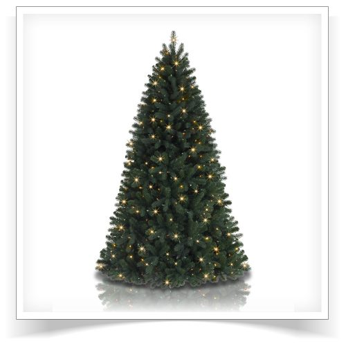 5.5′ Prelit Brooklyn Spruce Artificial Christmas Tree with Clear LED Lights by Treetopia