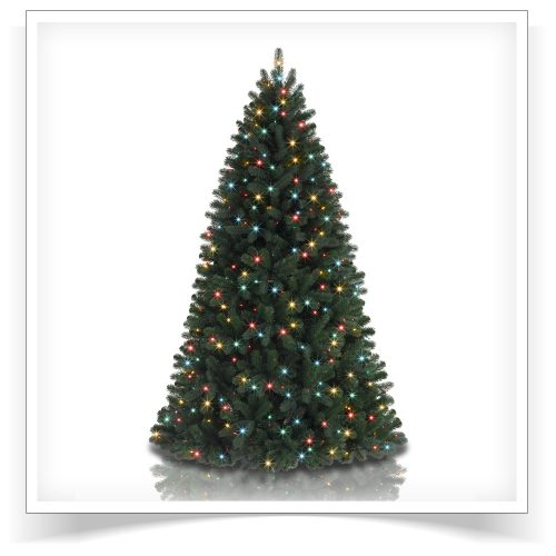 5.5′ Prelit Brooklyn Spruce Artificial Christmas Tree with Multi LED Lights by Treetopia