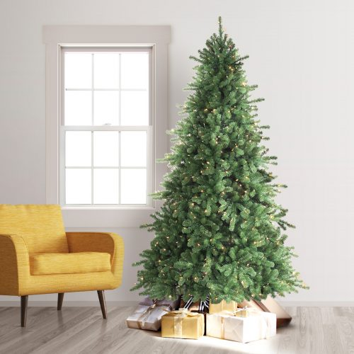 8′ Prelit California Douglas Fir Artificial Christmas Tree with Clear Lights by Treetopia