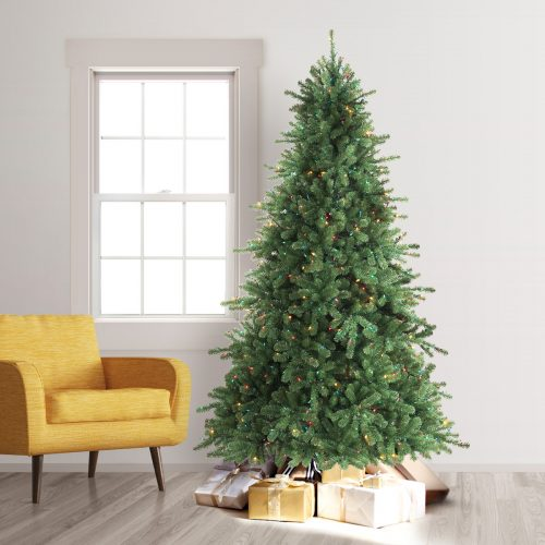 8′ Prelit California Douglas Fir Artificial Christmas Tree – Clearance with Multi Lights by Treetopia