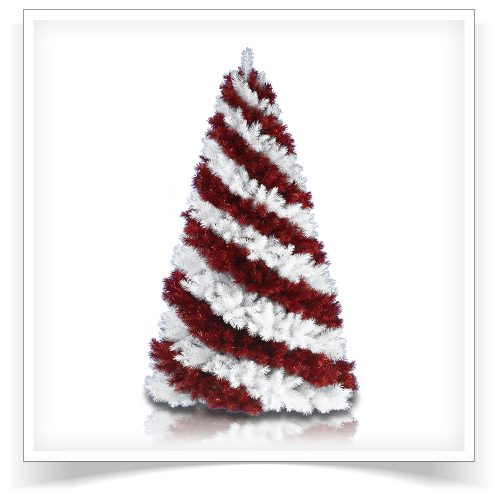 5′ Unlit Candy Cane Artificial Christmas Tree by Treetopia
