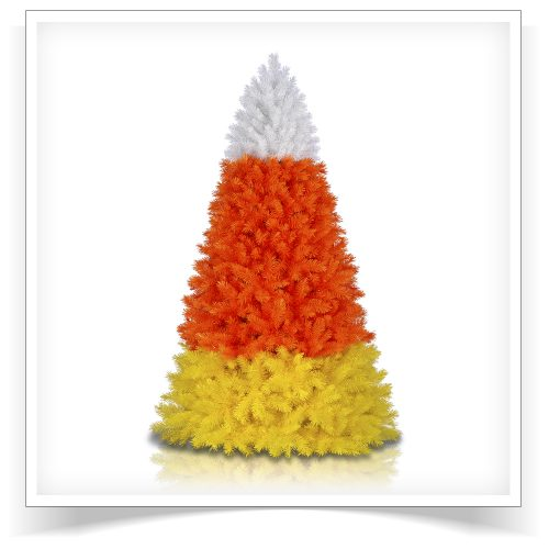 7′ Unlit Candy Corn Artificial Christmas Tree by Treetopia