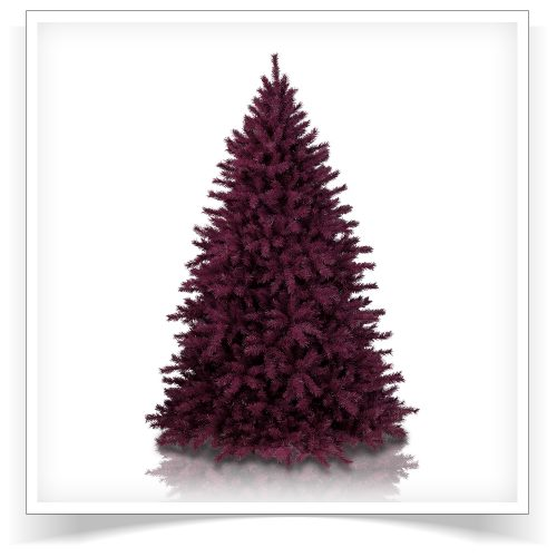 7′ Unlit Cranberry Crush Artificial Christmas Tree by Treetopia