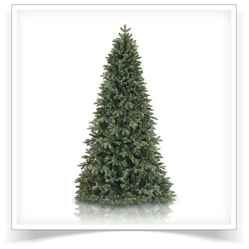 6.5′ Prelit Fraser Fir Artificial Christmas Tree with Clear Lights by Treetopia