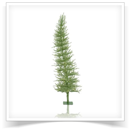 6′ Prelit Green Dazzling Diva Artificial Christmas Tree with Clear Lights by Treetopia