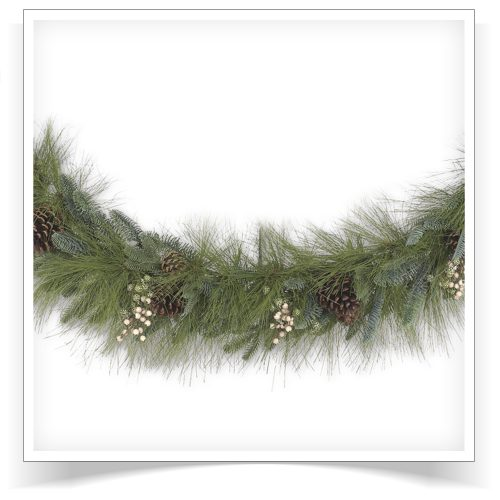 10′ Unlit Harvest Pine Artificial Christmas Garland by Treetopia