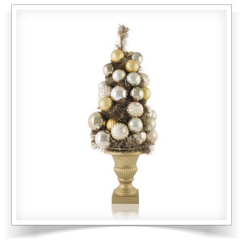 24″ Unlit I Love Gold Metallic Tabletop Tree by Treetopia