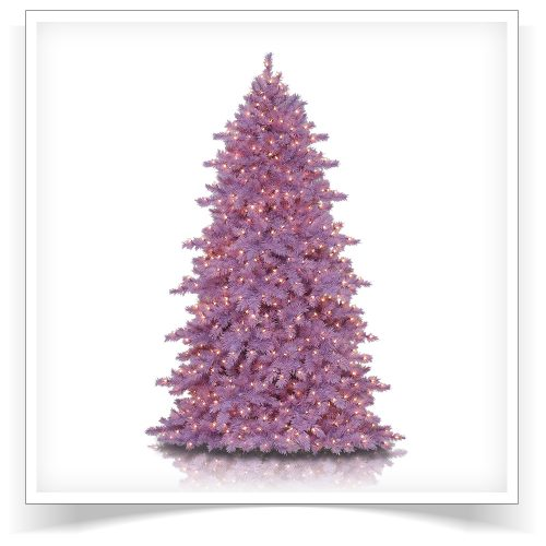 7′ Prelit Lively Lavender Artificial Christmas Tree with Clear Lights by Treetopia