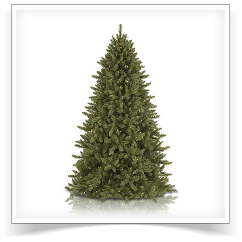 7′ Prelit McKinley Fir Artificial Christmas Tree – Clearance with Clear Lights by Treetopia