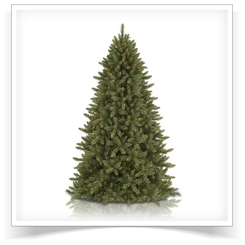 7′ Prelit McKinley Fir Artificial Christmas Tree – Clearance with Multi Lights by Treetopia