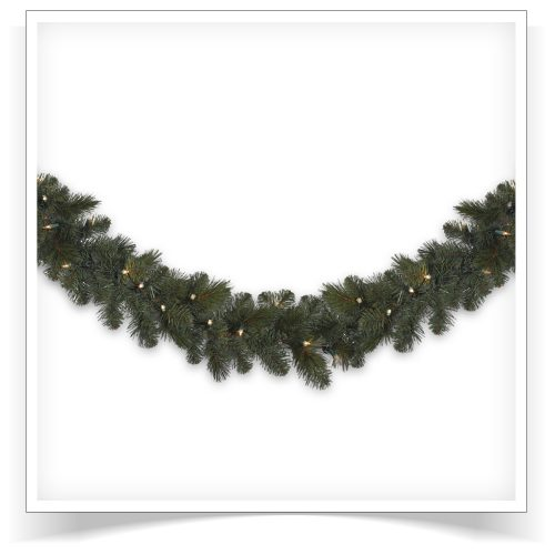 2-pack of 18′ Unlit Merry Mixed Pine Artificial Christmas Garland by Treetopia