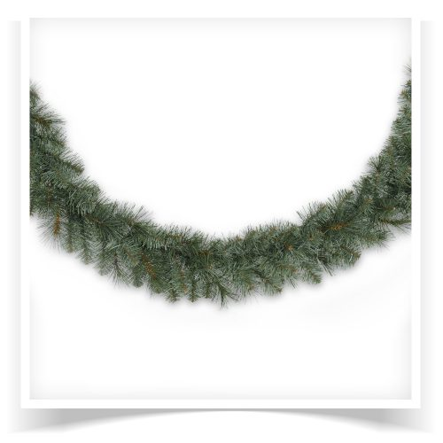 2-pack of 18′ Prelit Merry Mixed Pine Artificial Christmas Garland with Clear Lights by Treetopia