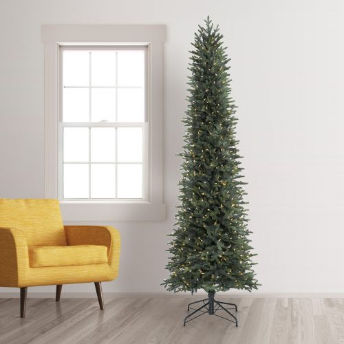 9′ Prelit Mia Pencil Artificial Christmas Tree with Clear Lights by Treetopia
