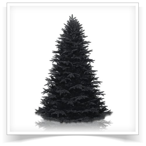 6.5′ Unlit Midnight Black Artificial Christmas Tree by Treetopia