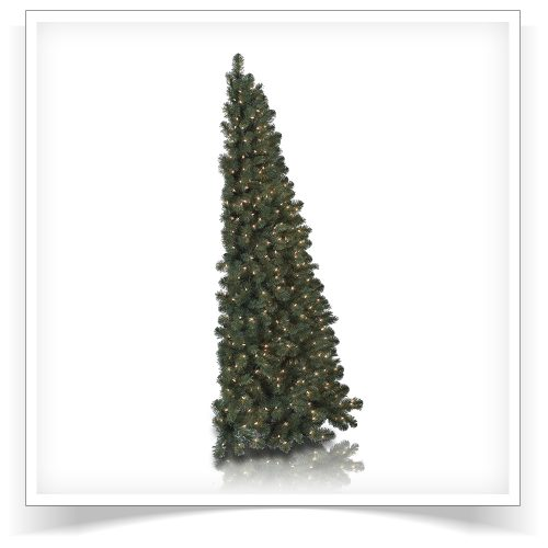 7′ Prelit My Better Half Artificial Christmas Tree with Clear Lights by Treetopia