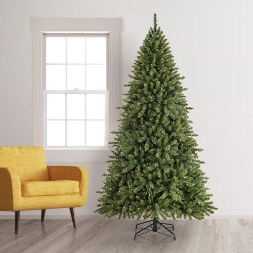 7.5′ Prelit Noble Fir Artificial Christmas Tree with Clear Lights by Treetopia