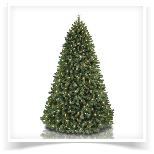 7.5′ Prelit Pirouette Pine Rotating Artificial Christmas Tree with Clear Lights by Treetopia