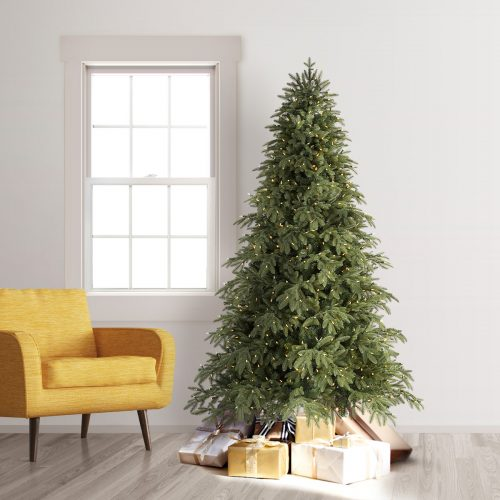 6.5′ Prelit Portland Pine Artificial Christmas Tree with Clear Lights by Treetopia