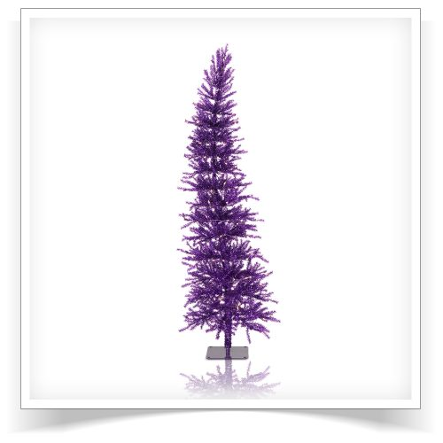 6′ Prelit Purple Dazzling Diva Artificial Christmas Tree with Clear Lights by Treetopia