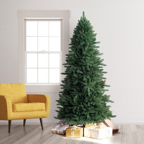 8′ Unlit Slim Spruce Artificial Christmas Tree by Treetopia