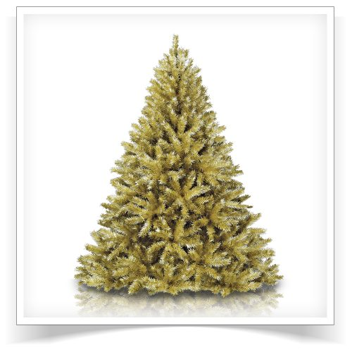 6′ Unlit Toasted Champagne Gold Tinsel Artificial Christmas Tree by Treetopia
