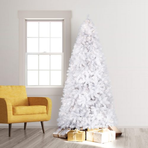 10′ Unlit Winter White Artificial Christmas Tree by Treetopia