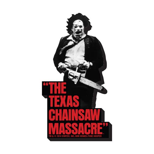 Texas Chainsaw Massacre BW Funky Chunky Magnet
