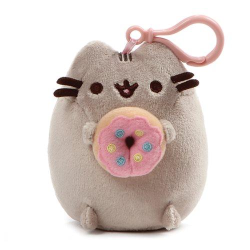 Pusheen the Cat Pusheen Donut Backpack Clip-On Plush