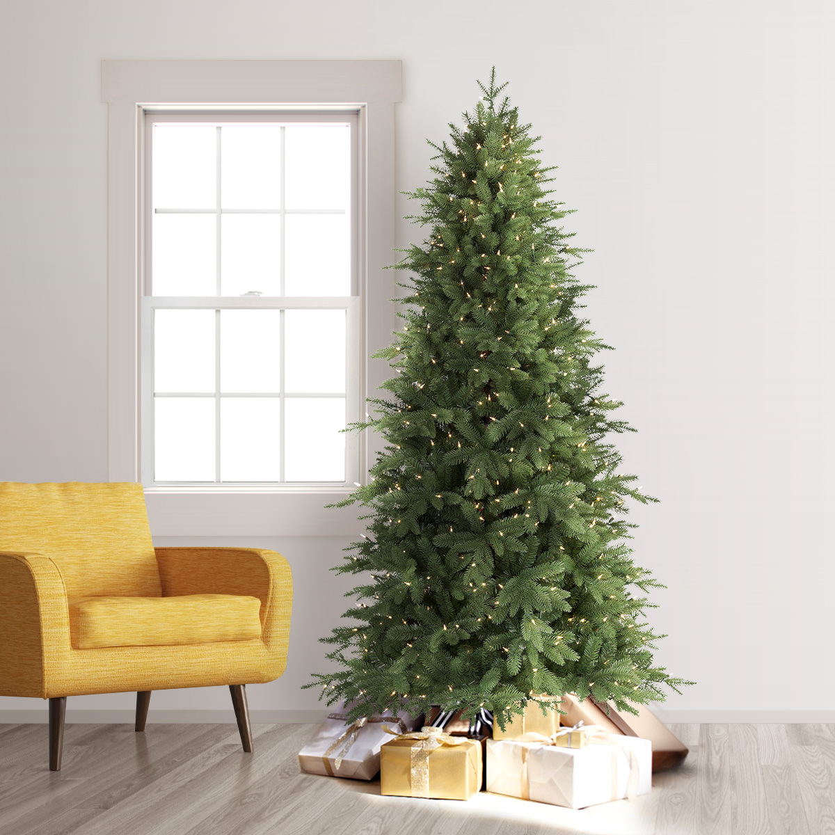 Buy 6′ Prelit Addison Spruce Artificial Christmas Tree with Clear ...